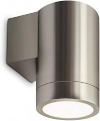 led wandleuchte wandlampe au enleuchte aluminium 1 flammig edelstahl gu10 230v form f. Black Bedroom Furniture Sets. Home Design Ideas