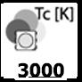 ca. 3000 Kelvin