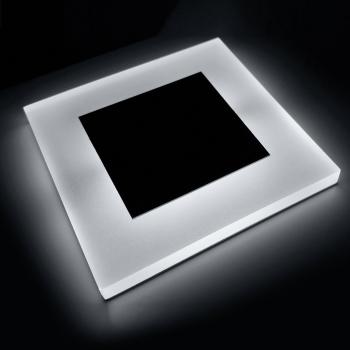Conceptrun Premium LED Wandeinbauleuchte Modell:WB2 Kaltwei/ß 12V DC Treppenlicht mit quadratischem Korpus aus Satinglas und Edelstahlfront