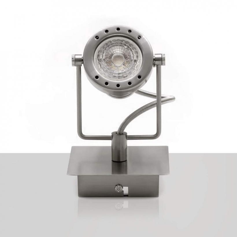 Deckenleuchte Fiona Mit Gu10 Led Lampen Kaufen: LED Deckenleuchte Edelstahl Schwenkbar GU10-230V