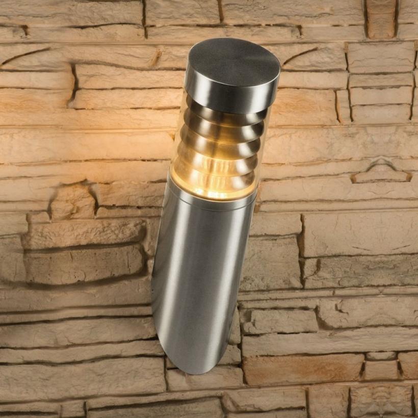 led wandleuchte au enleuchte wandlampe edelstahl ip44 e27 230v form w26. Black Bedroom Furniture Sets. Home Design Ideas