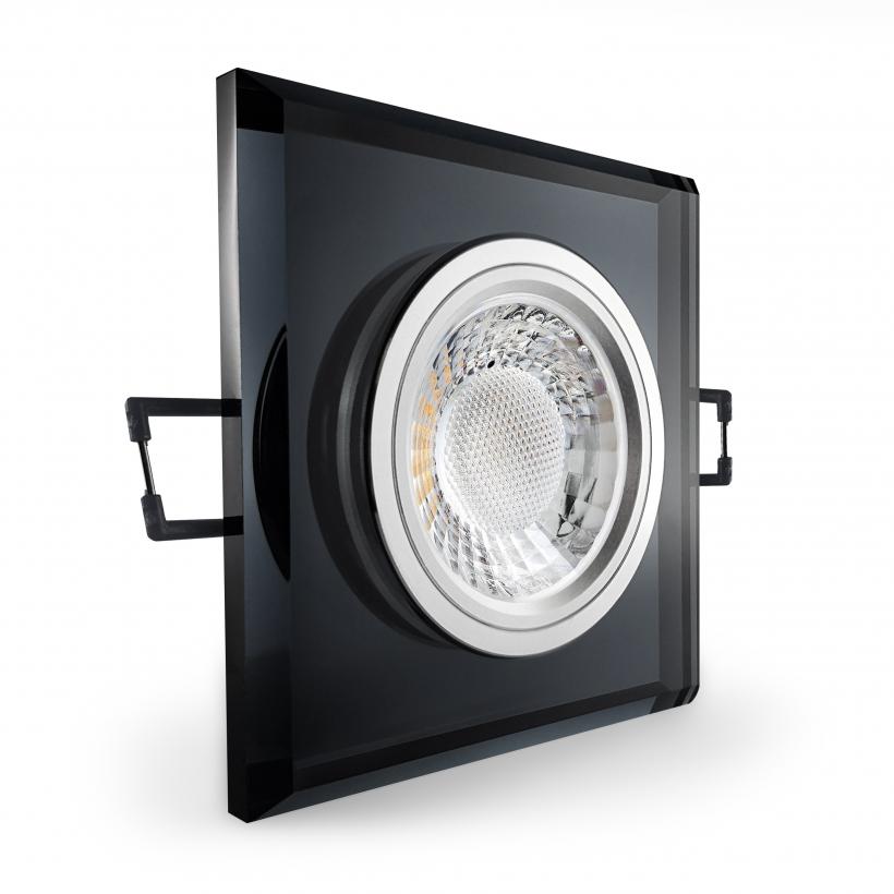 led einbaustrahler schwarzglas verspiegelt quad. Black Bedroom Furniture Sets. Home Design Ideas