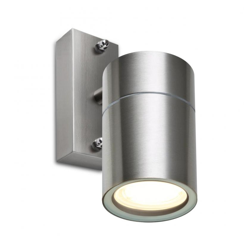 led wandleuchte rom wandlampe au enleuchte 1 flammig edelstahl gu10 230v form f1. Black Bedroom Furniture Sets. Home Design Ideas